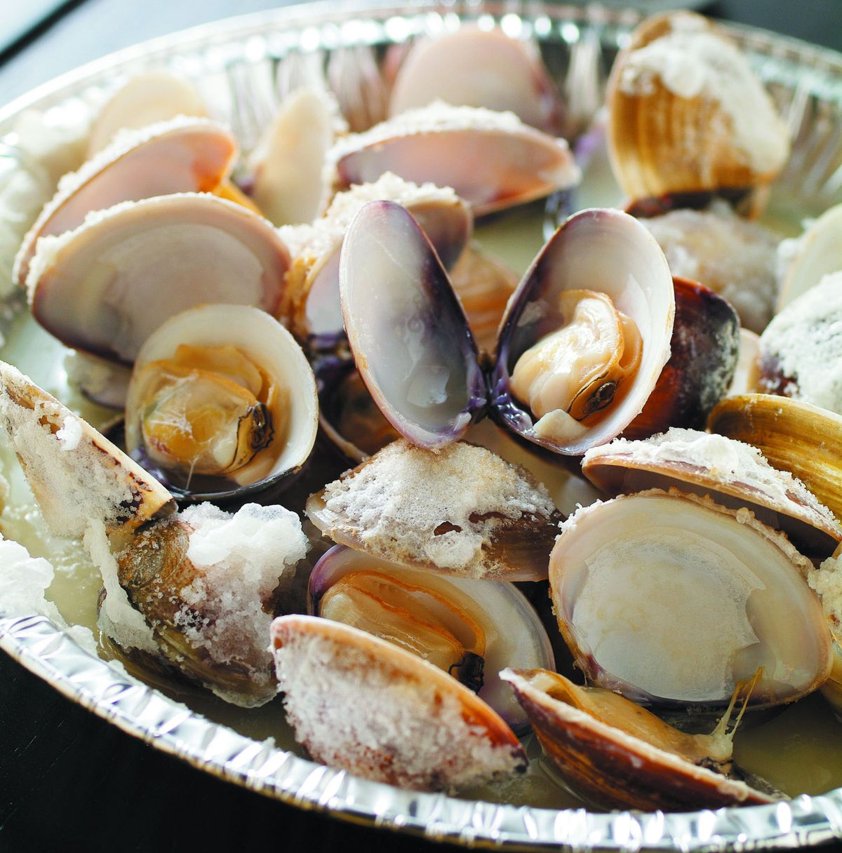 食譜:鹽烤文蛤