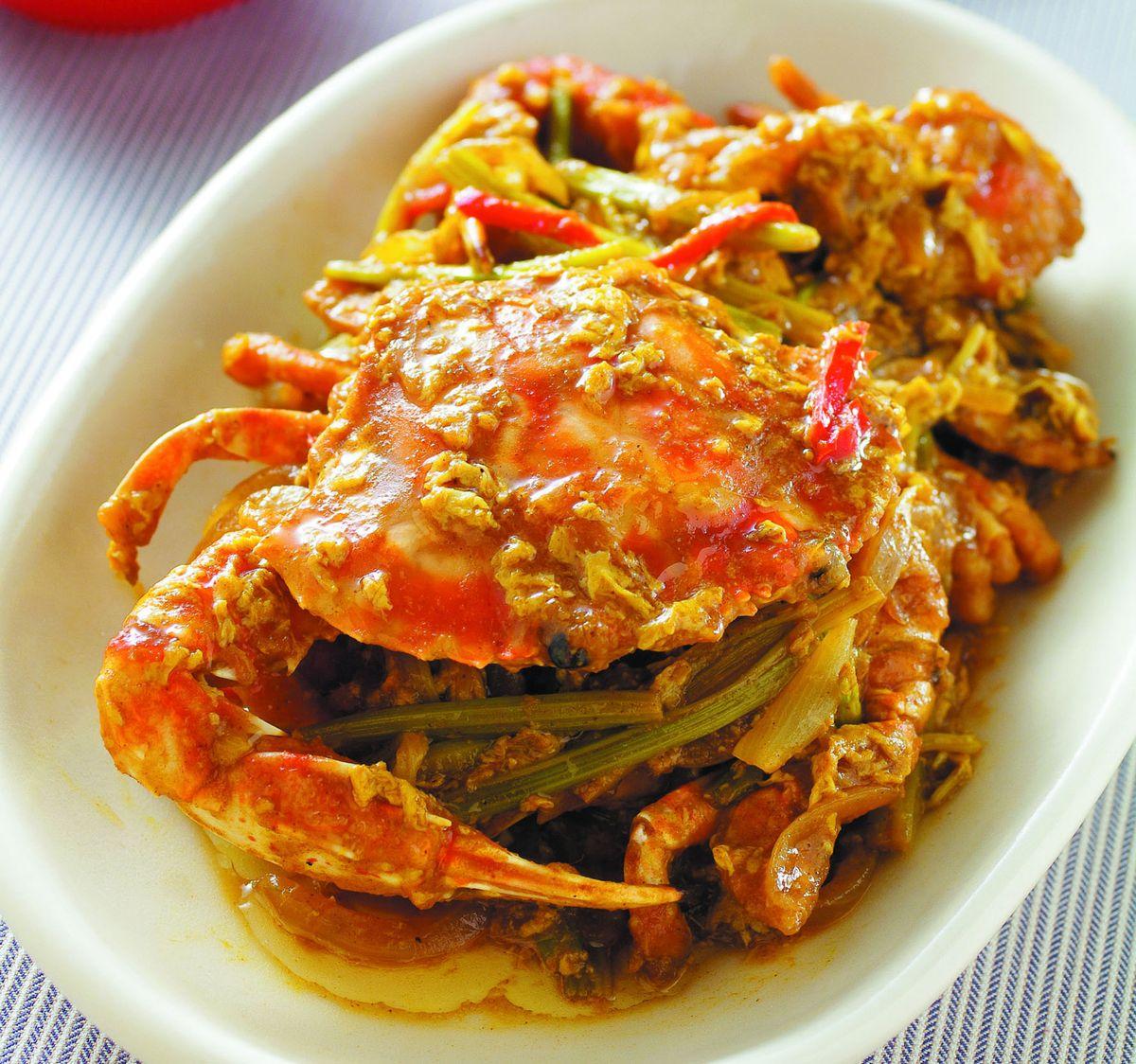 食譜:咖哩炒蟹(1)