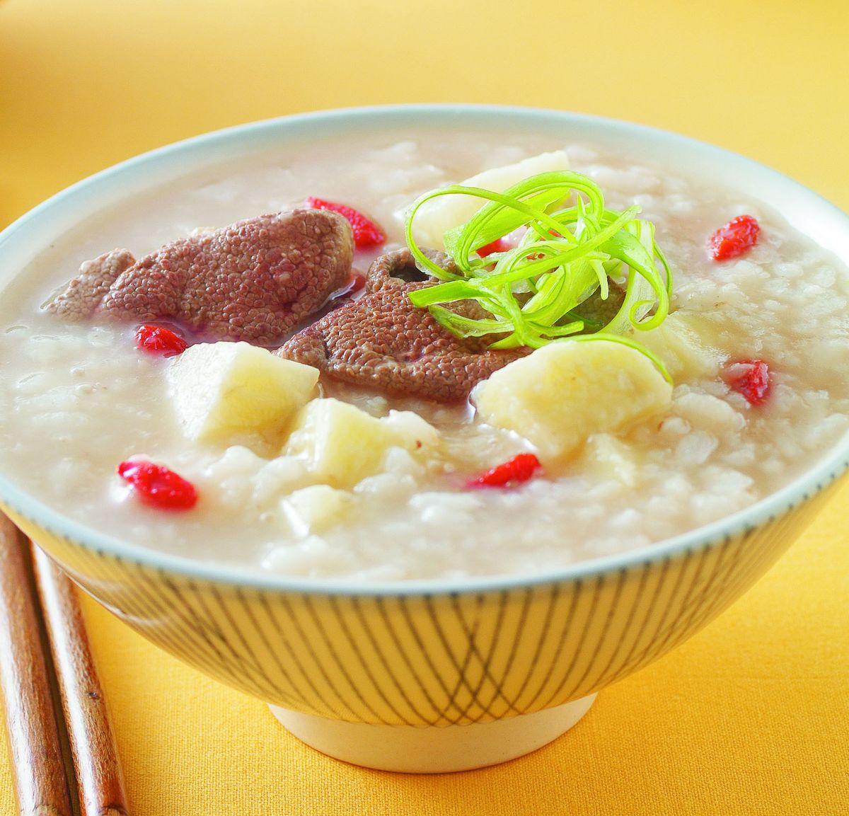 食譜:山藥豬肝粥