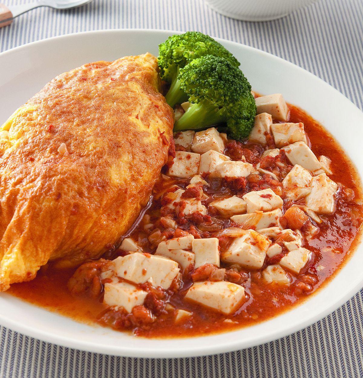 食譜:肉醬豆腐蛋包飯個人套餐