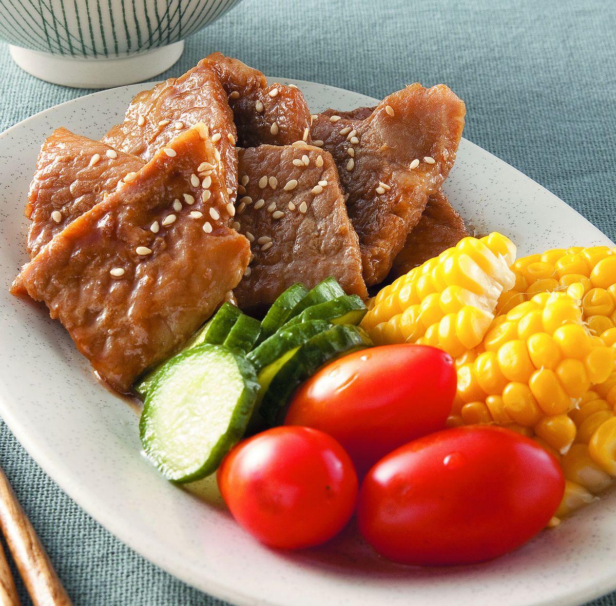 食譜:照燒豬排飯個人套餐