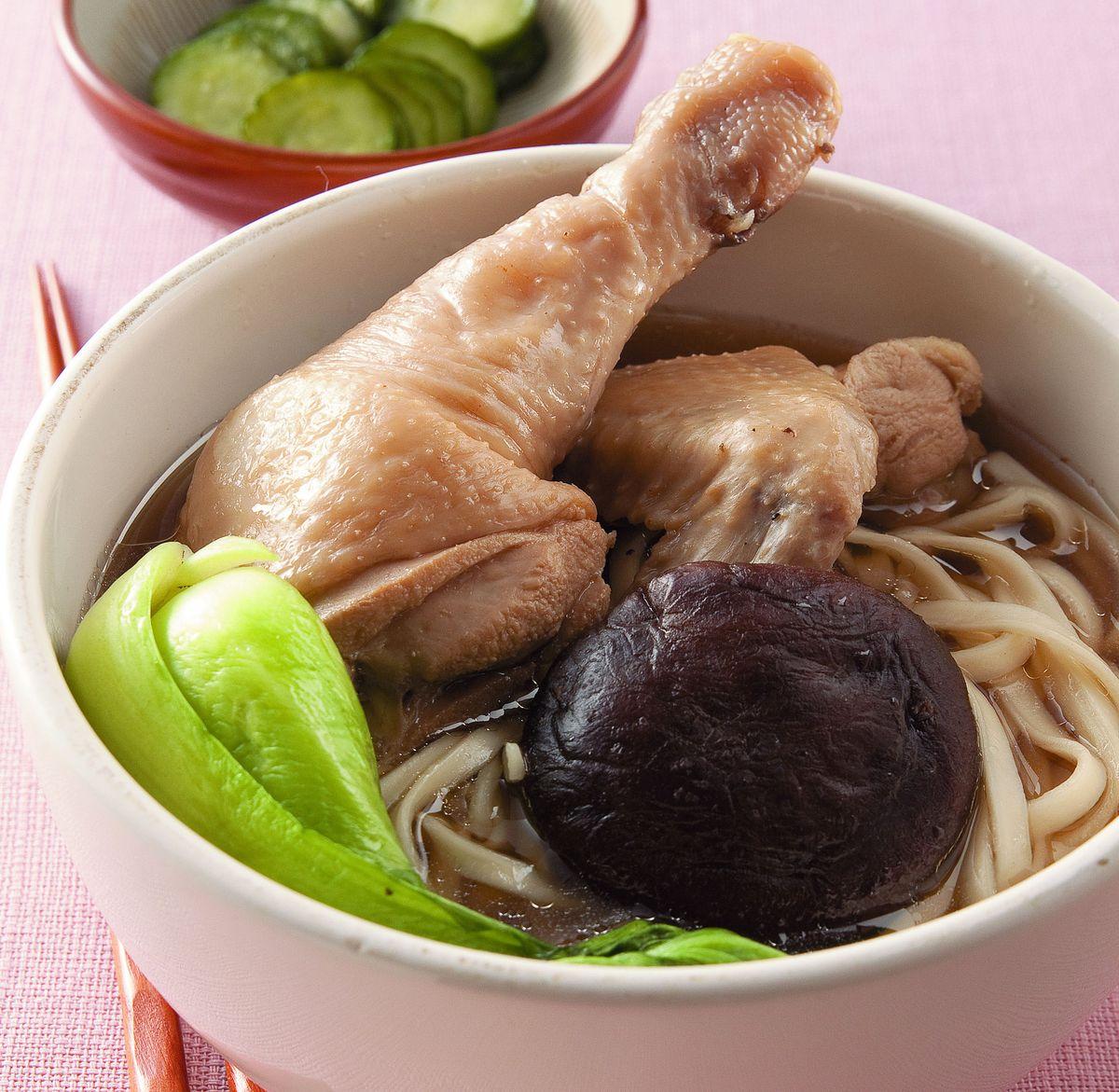 食譜:香茹雞腿湯麵