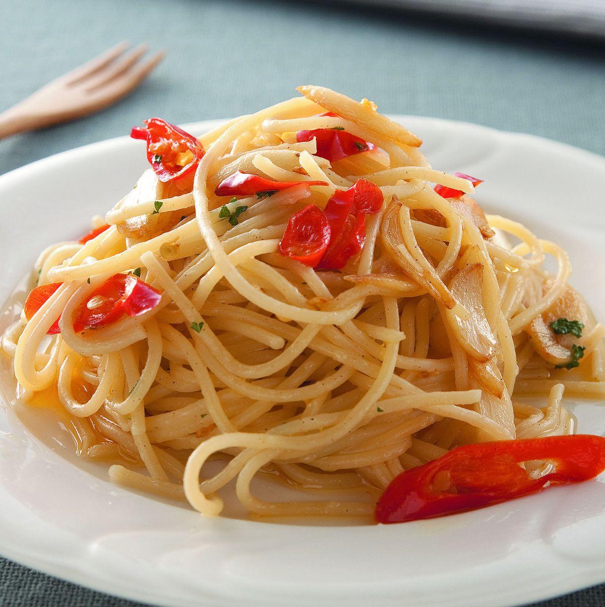 食譜:蒜辣義大利麵