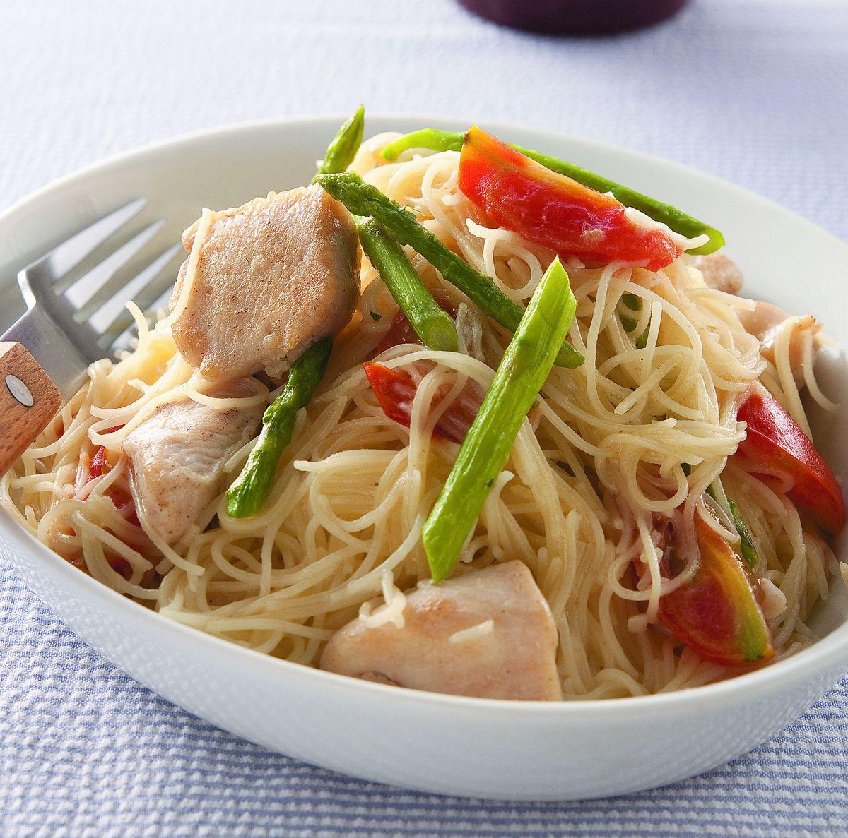 食譜:蘆筍雞肉天使義大利麵