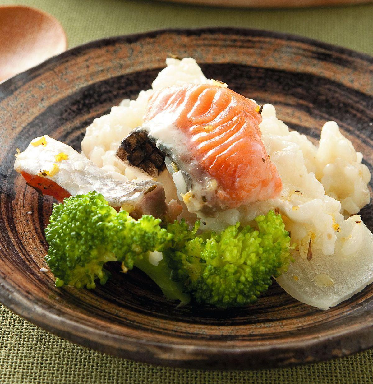 食譜:奶油鮭魚燉飯