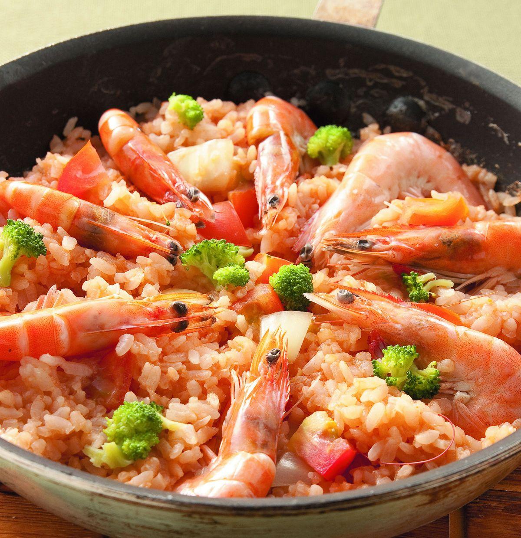 食譜:蕃茄鮮蝦燉飯
