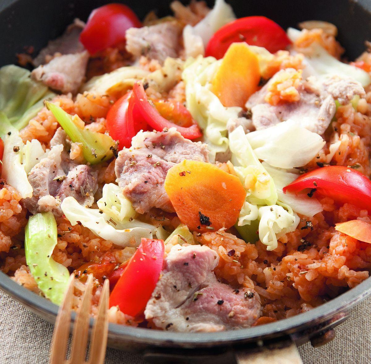 食譜:豬肉蔬菜燉飯