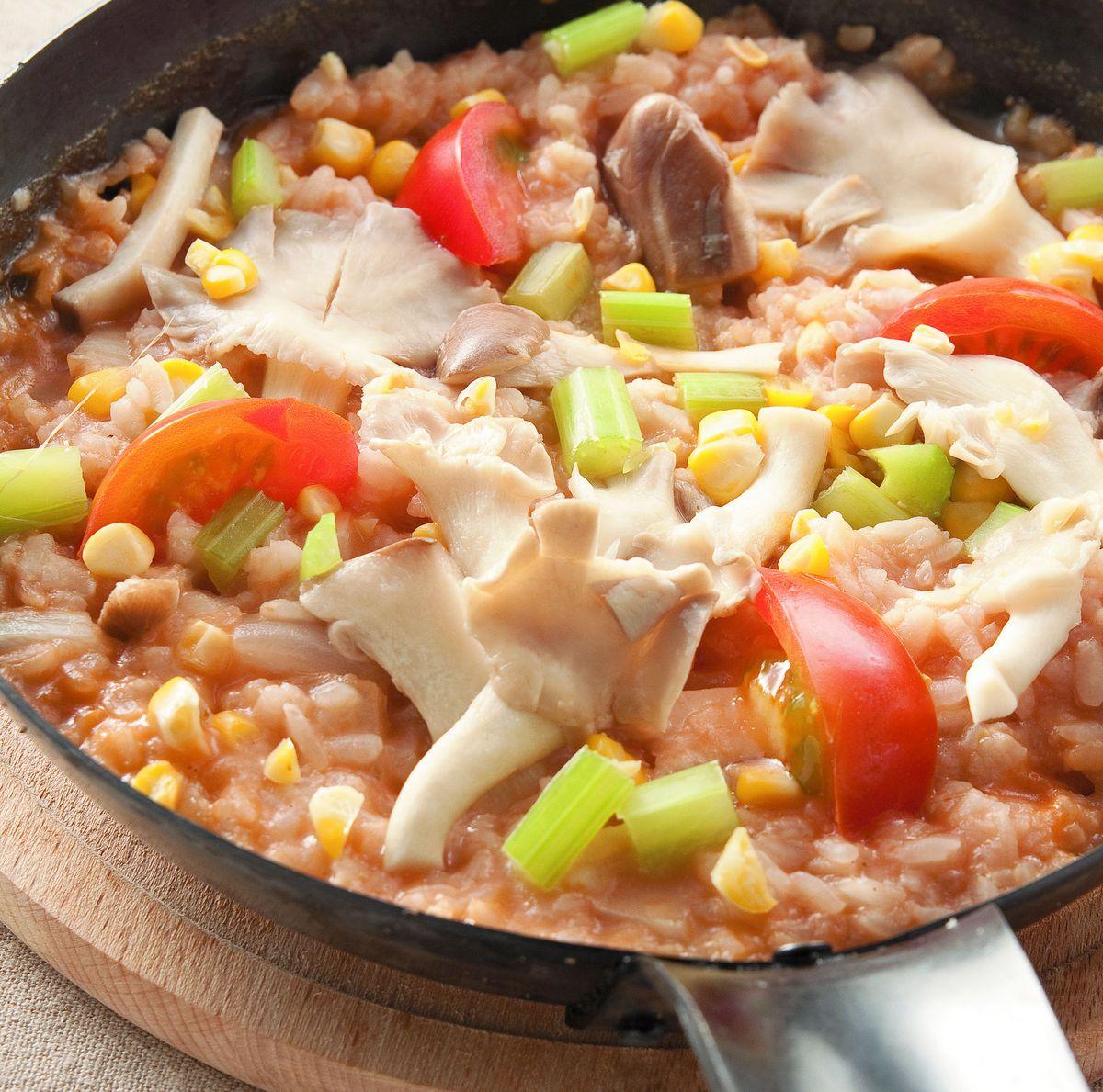 食譜:蕃茄野菇燉飯