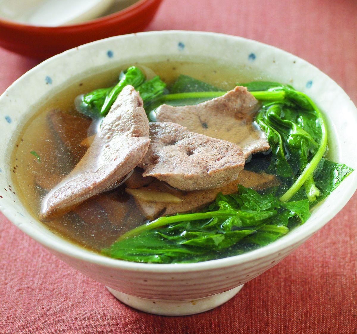 食譜:菠菜豬肝湯(1)