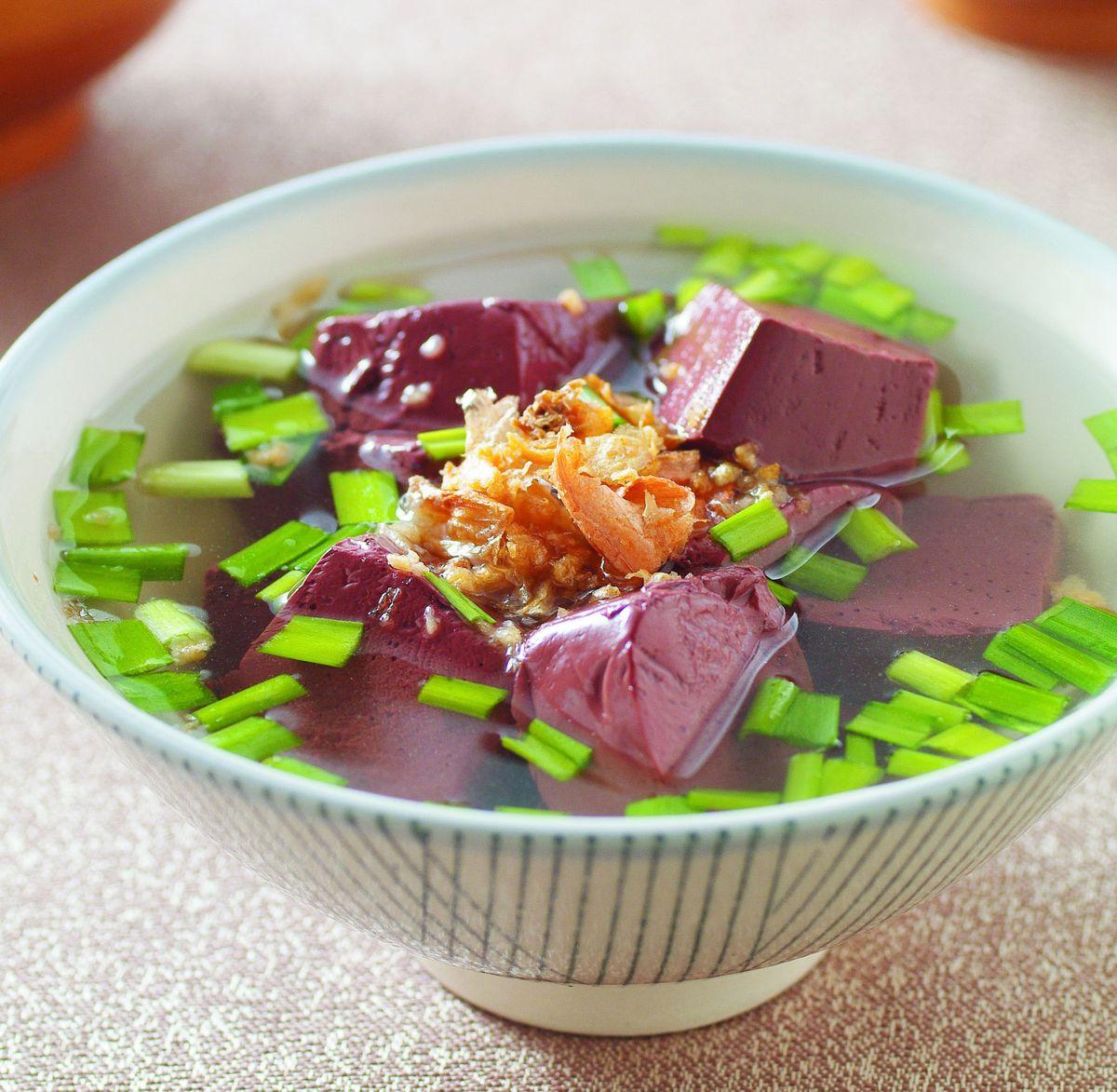 食譜:韭菜豬血湯
