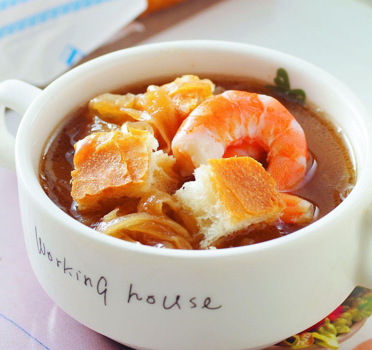 食譜:洋蔥鮮蝦濃湯