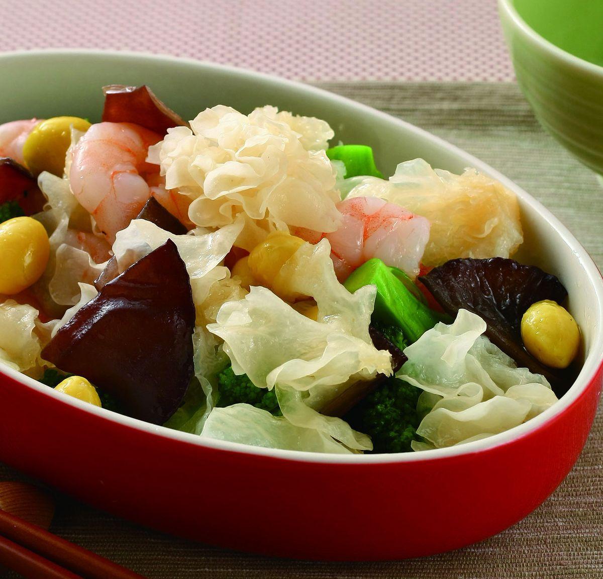 食譜:銀耳蝦仁花椰菜
