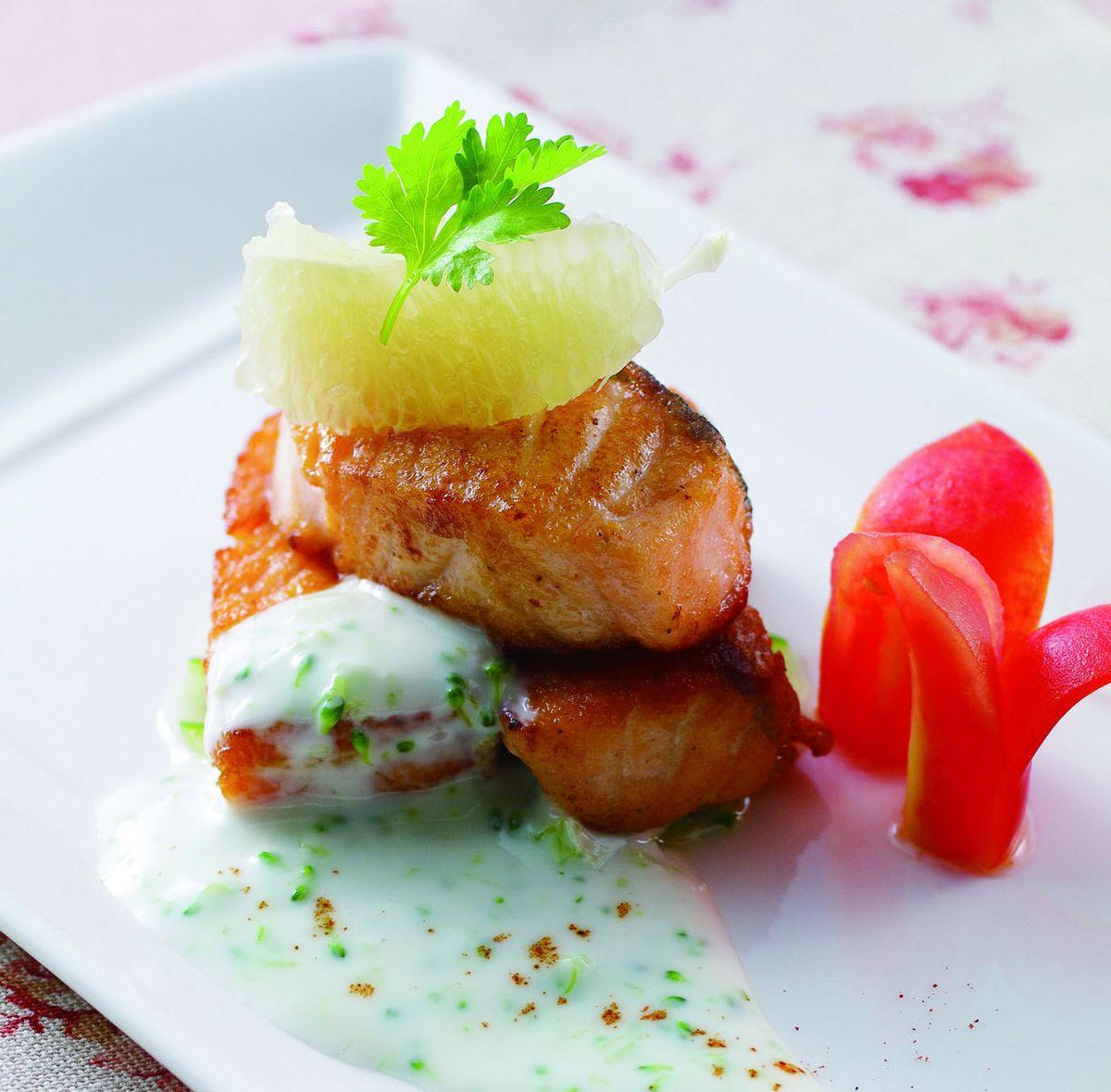 食譜:鮭魚佐優格