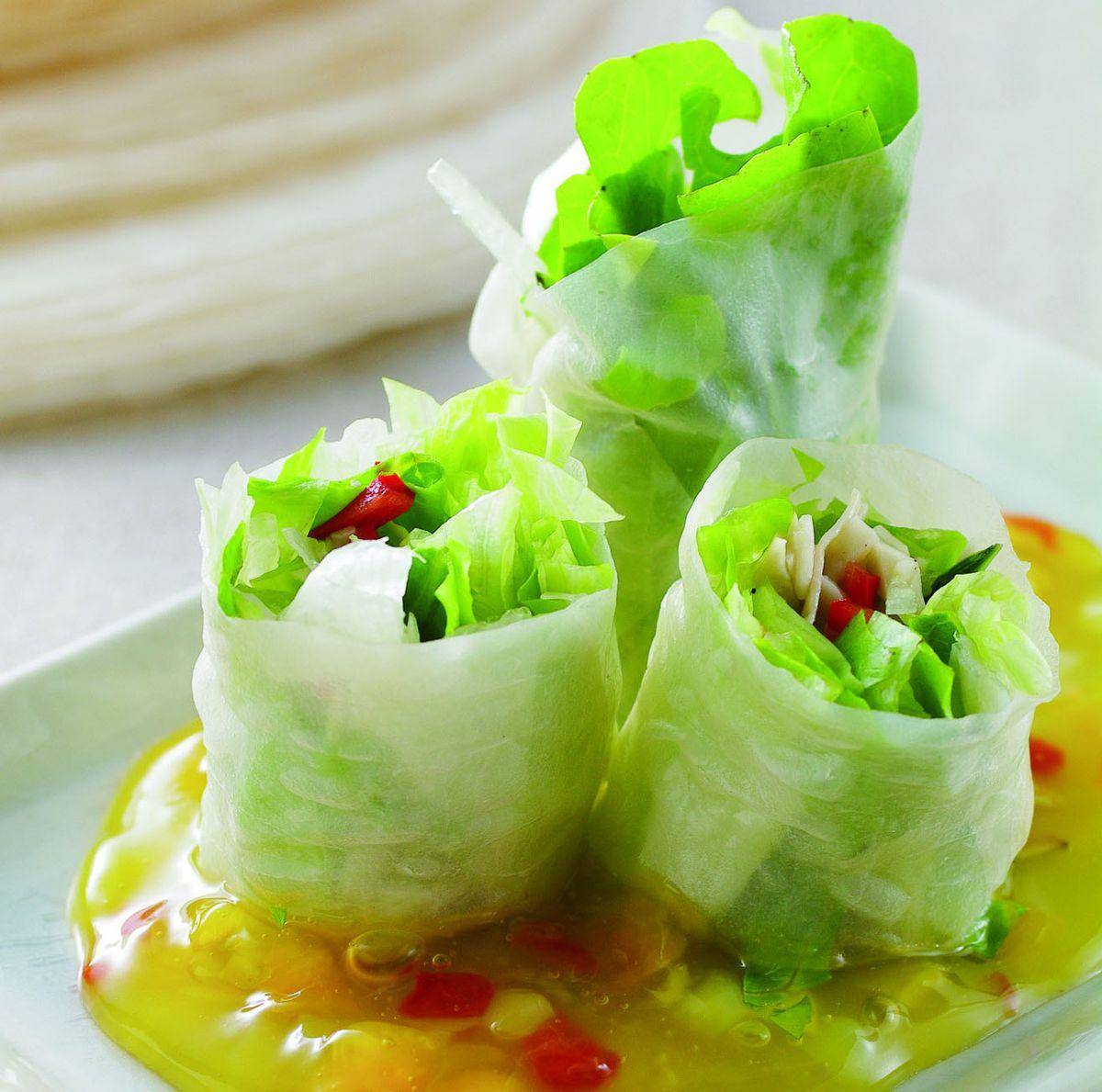 食譜:越式春捲佐熱帶水果
