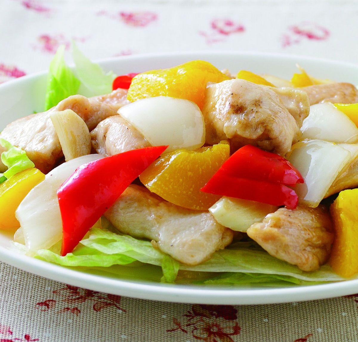 食譜:水蜜桃炒雞丁