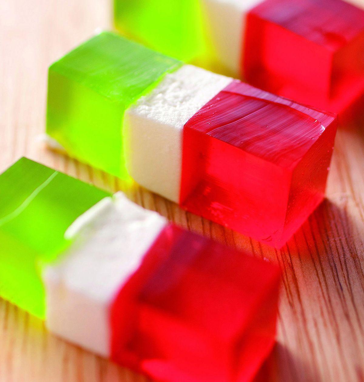 食譜:三色洋菜軟糖
