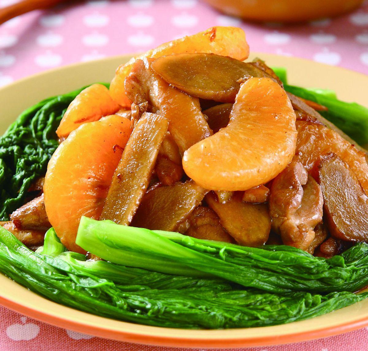 食譜:橘果炒牛蒡
