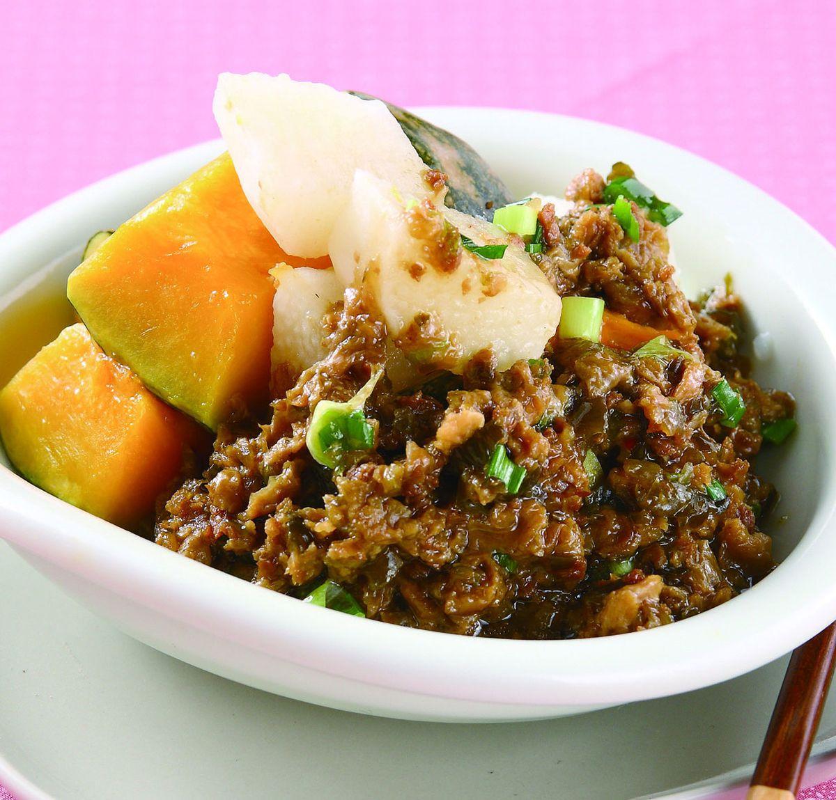 食譜:素瓜子肉醬雙色