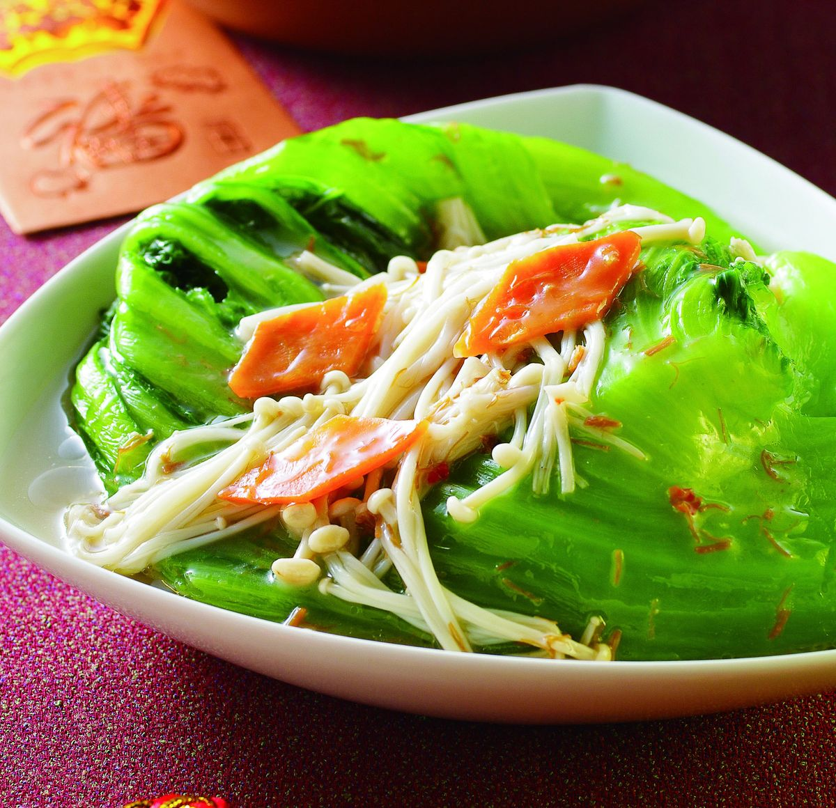 食譜:芥菜干貝燒