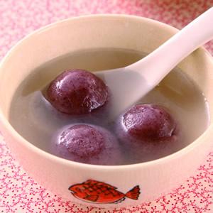 紫米紅豆湯圓