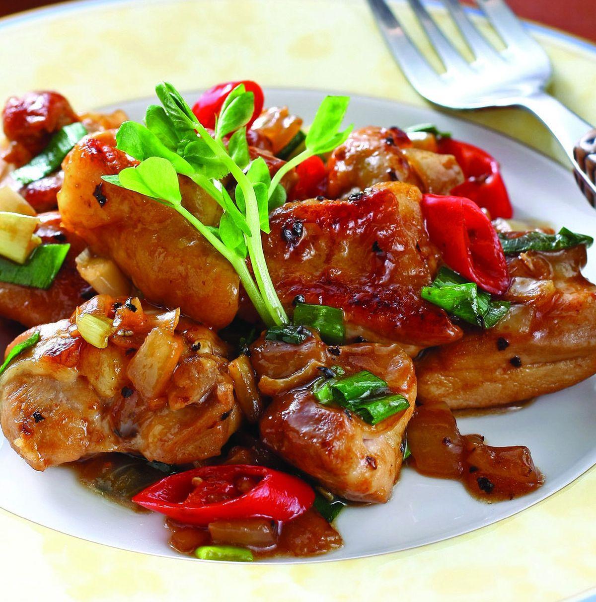 食譜:蔥燒雞腿肉