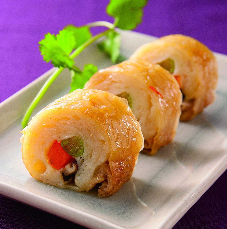 食譜:蘆筍蔬菜雞卷