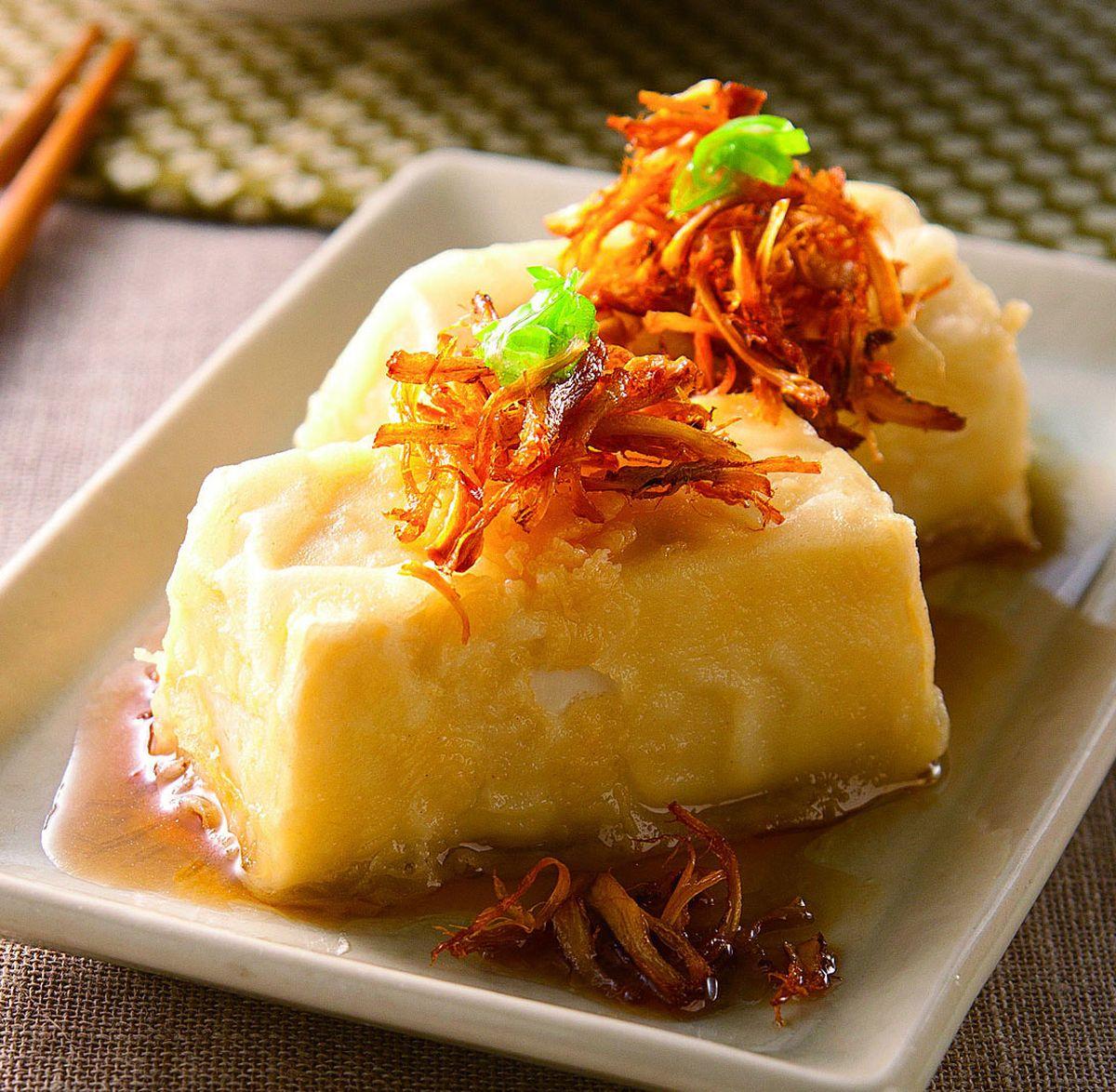 食譜:和風香菇酥豆腐