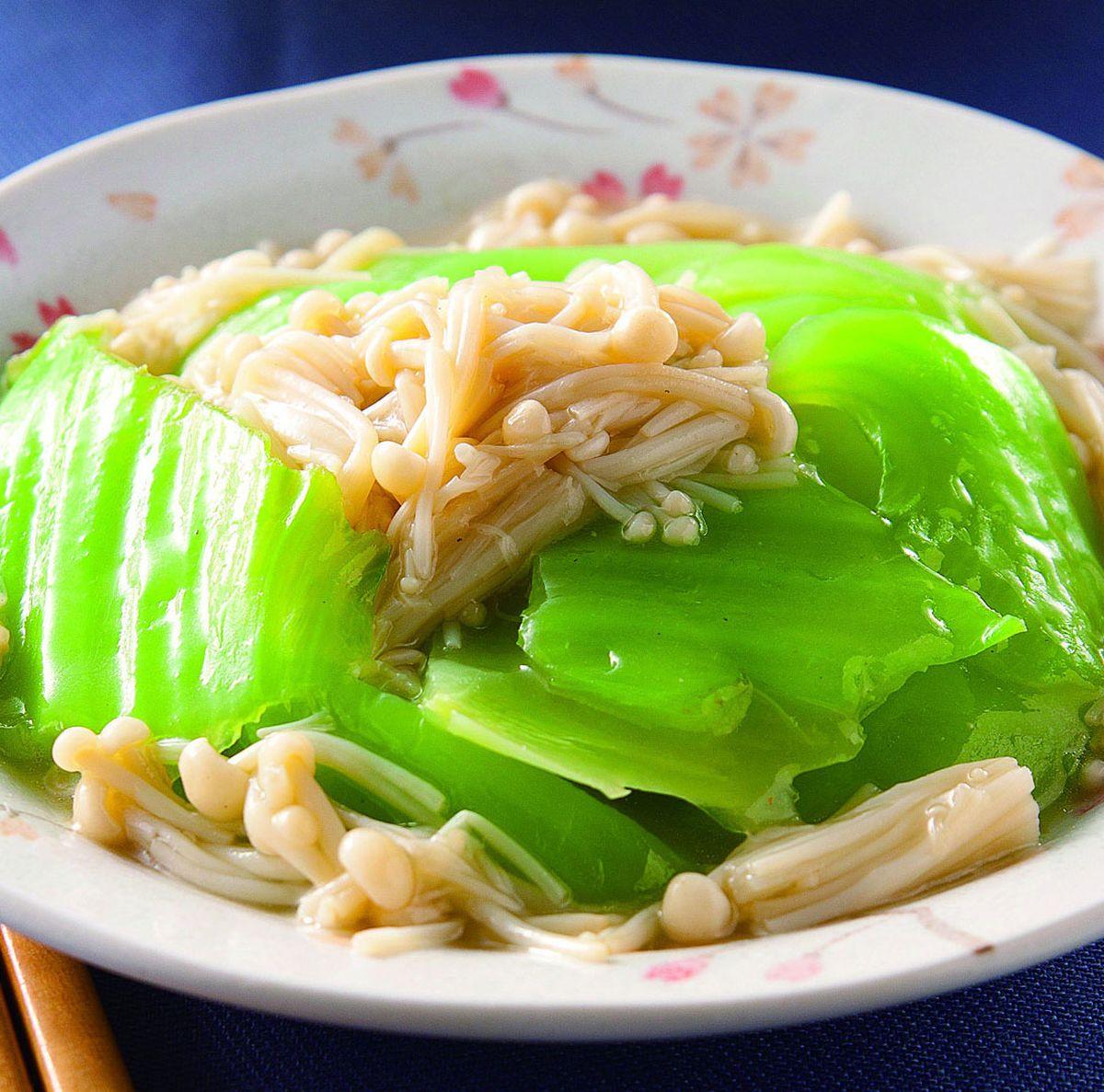 食譜:金菇燴芥菜