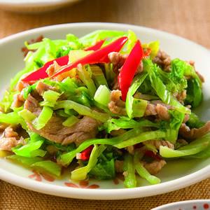 芥菜葉辣炒肉絲
