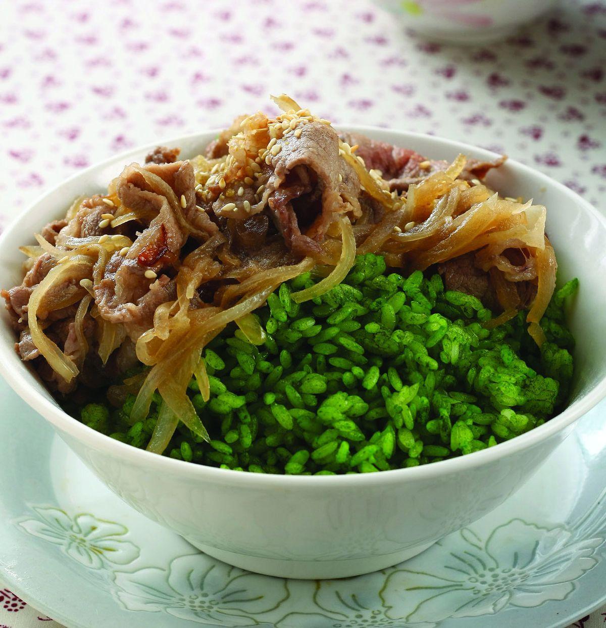 食譜:和風抹茶牛肉飯