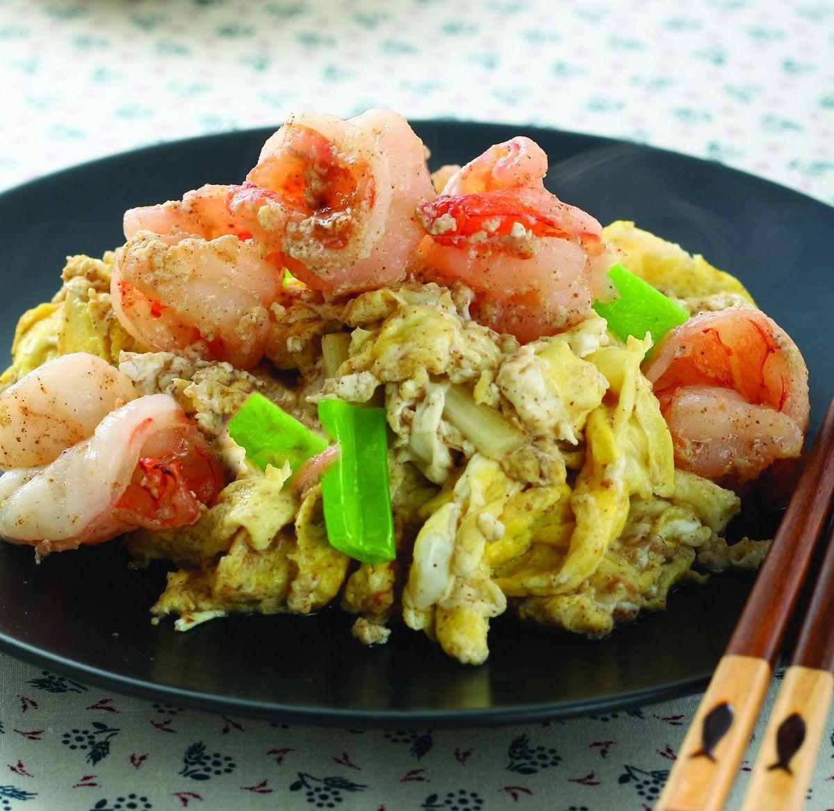 食譜:梅子蝦仁炒蛋
