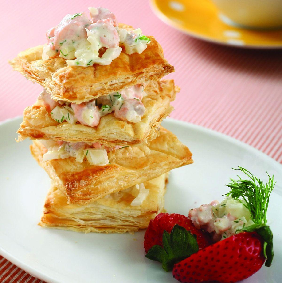 食譜:鮭魚酥皮塔