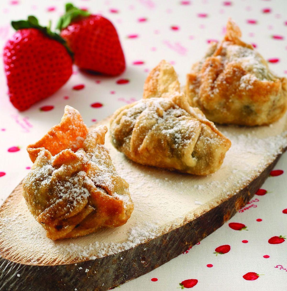 食譜:爆漿草莓巧克力元寶