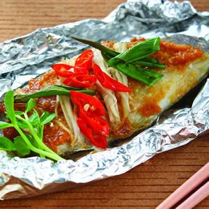 鋁箔烤味噌魚