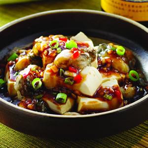 蒜味鮮蚵拌豆腐