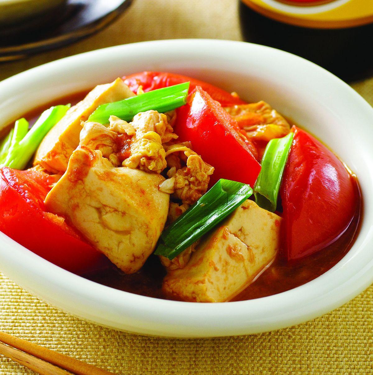 食譜:蕃茄豆腐嫩蛋