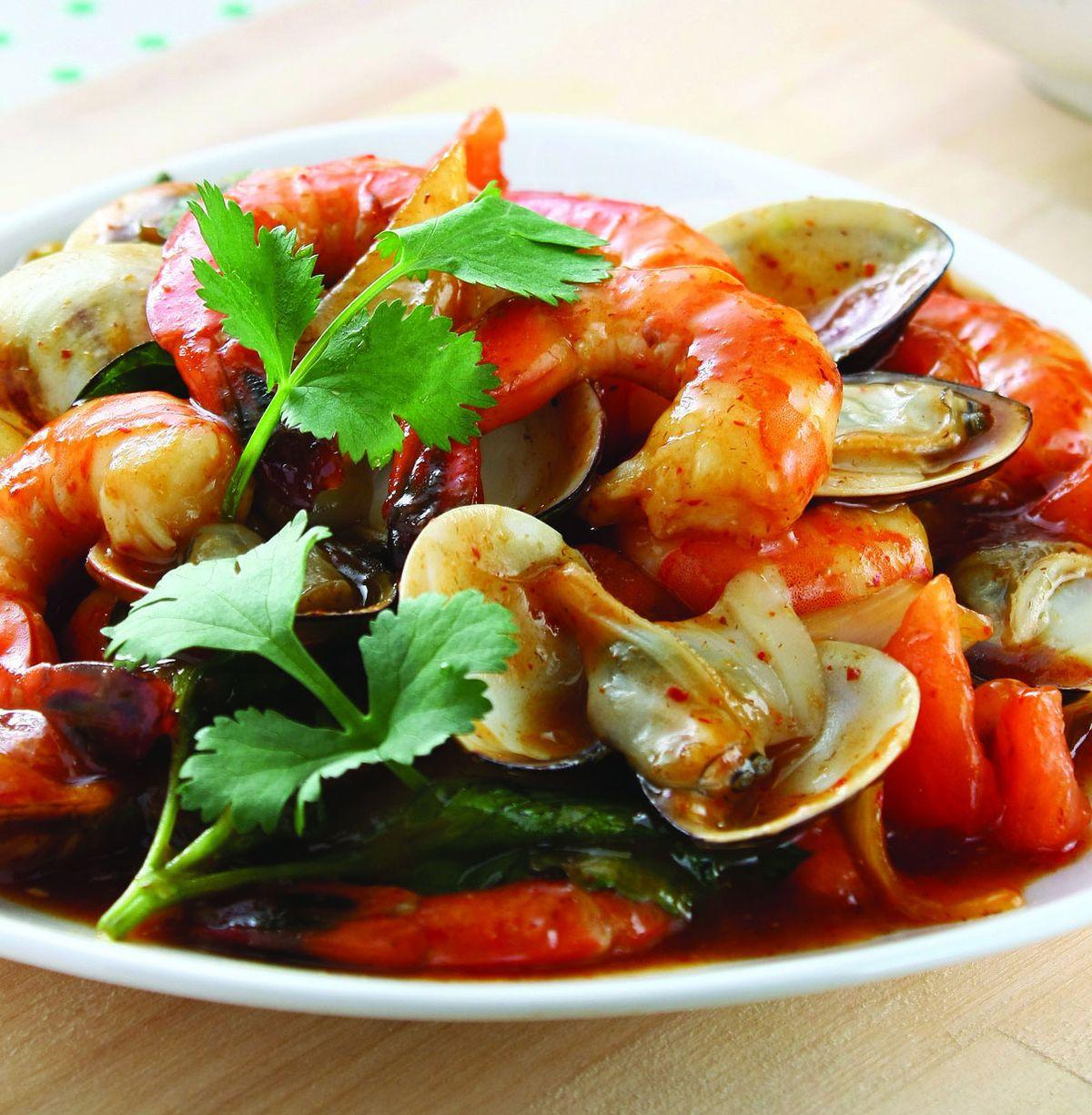食譜:泰式酸辣海鮮(1)