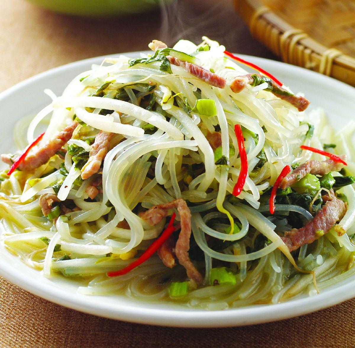 食譜:雪菜肉絲炆米粉(2)