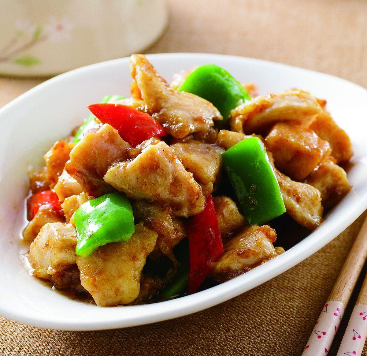食譜:醬爆雞丁(5)