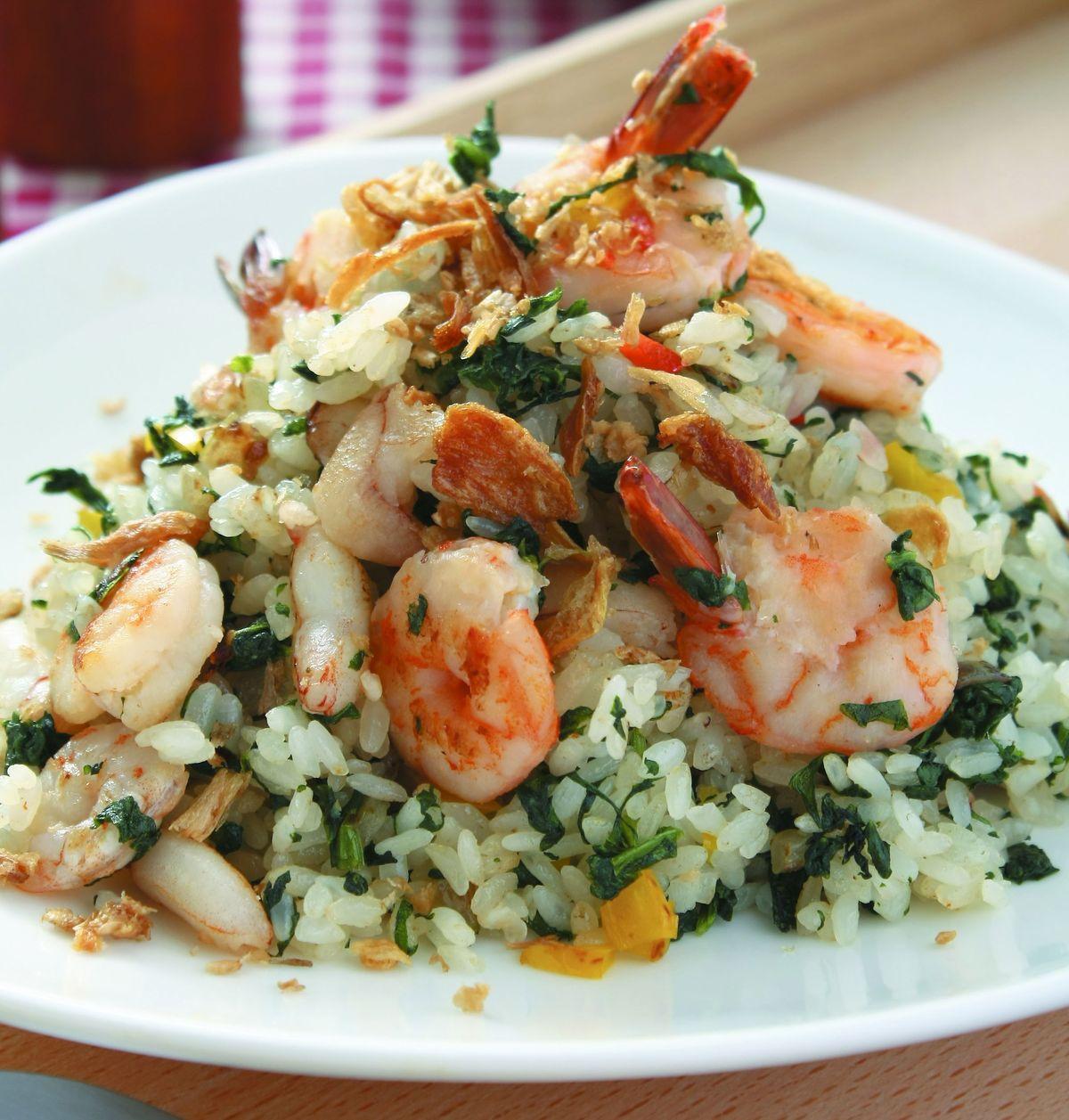 食譜:海鮮翡翠炒飯
