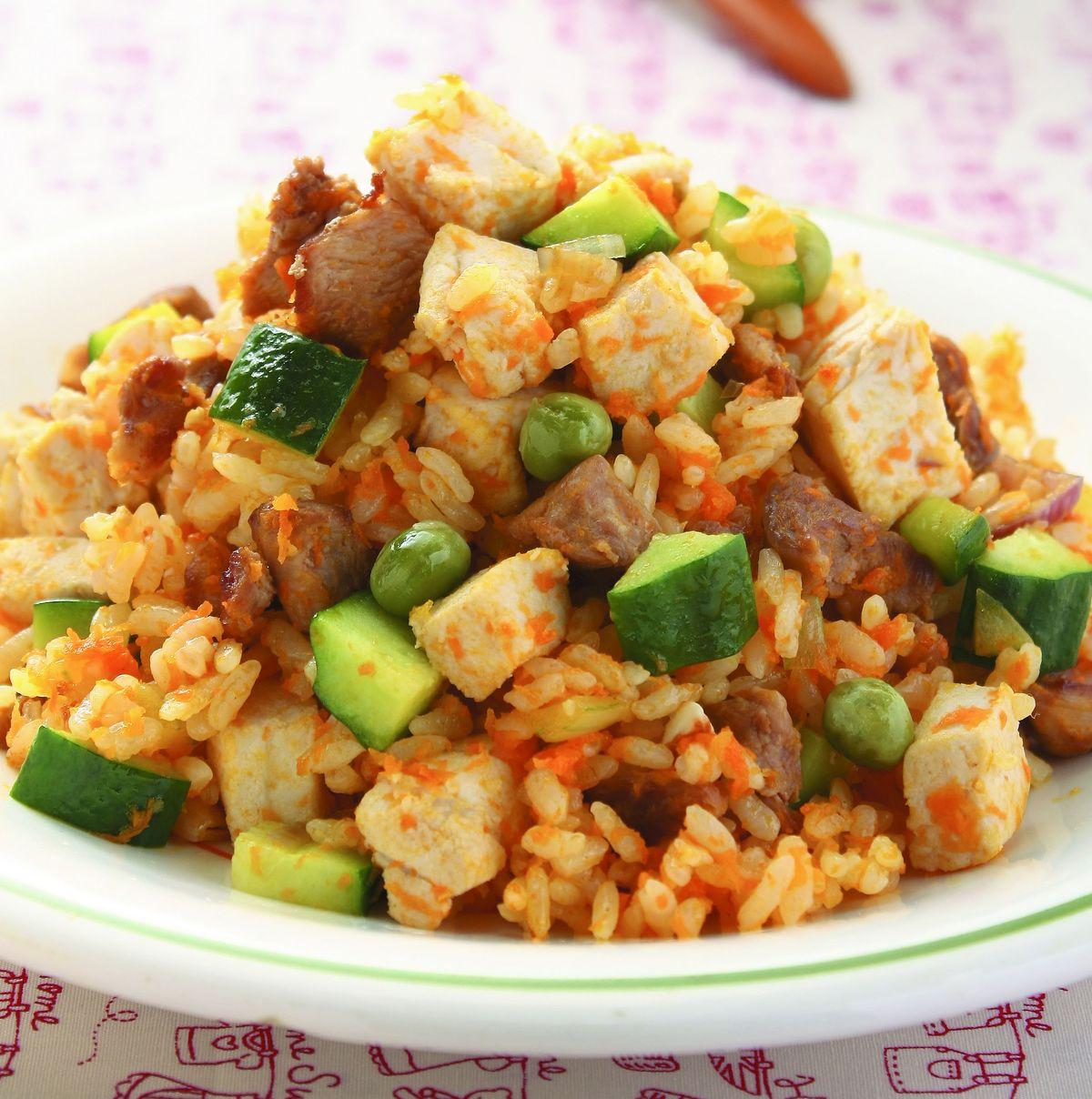 食譜:旗魚雞粒炒飯