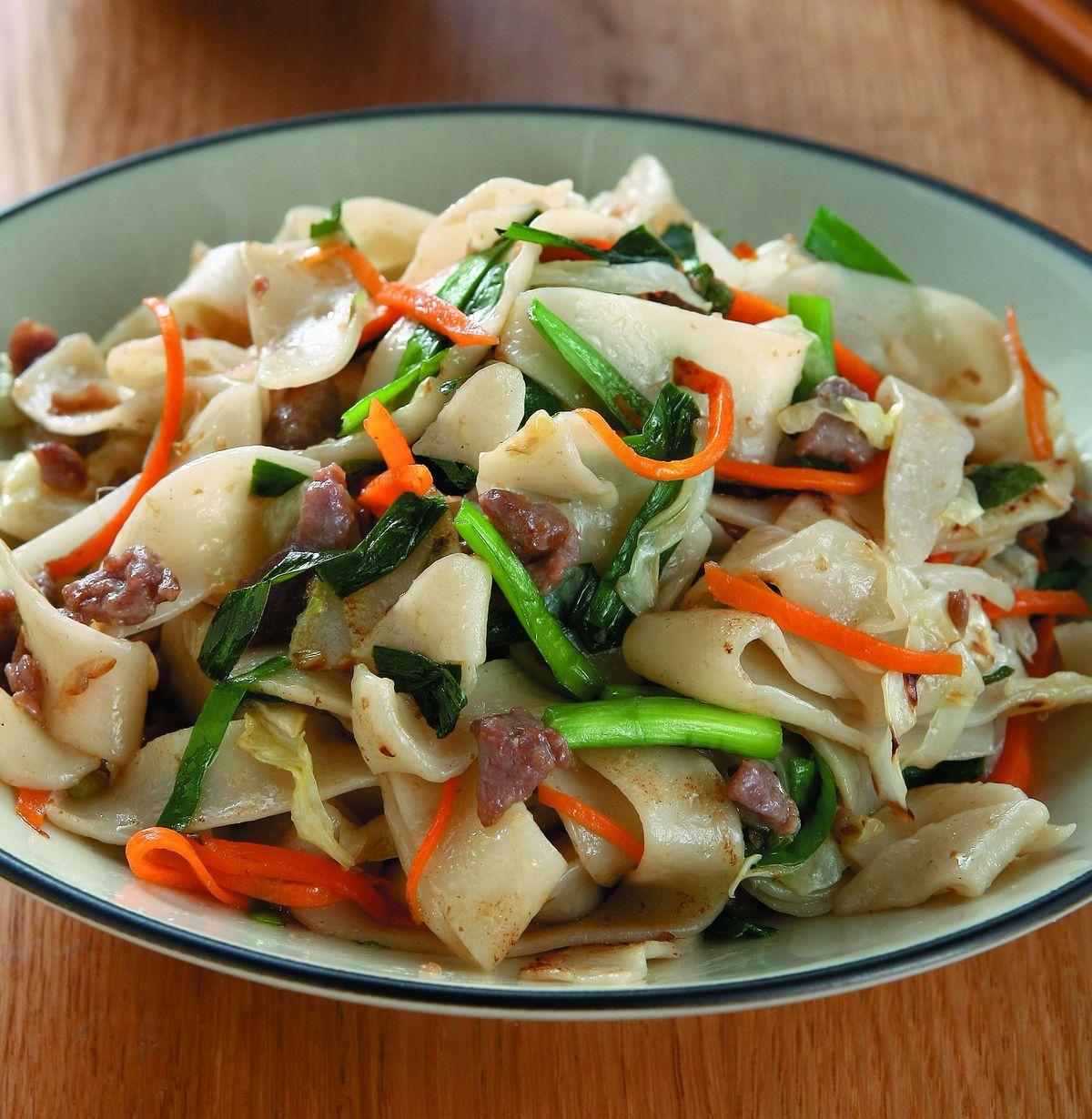 食譜:餃皮炒麵