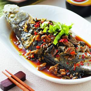 福菜蒸鱸魚