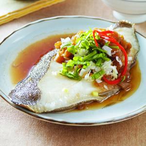 客家菜脯蒸鱈魚