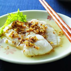 桂花蒸魴魚