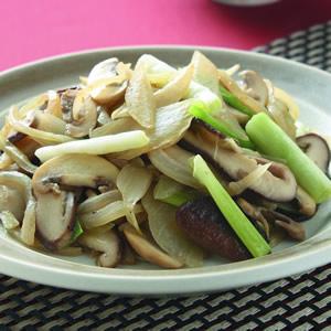 鮮菇炒雙蔥