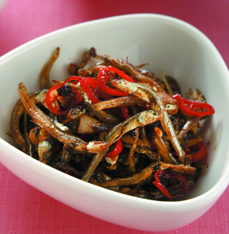 食譜:豆豉小魚乾