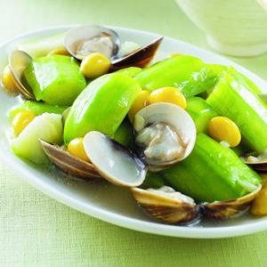 銀杏絲瓜燴蛤蜊