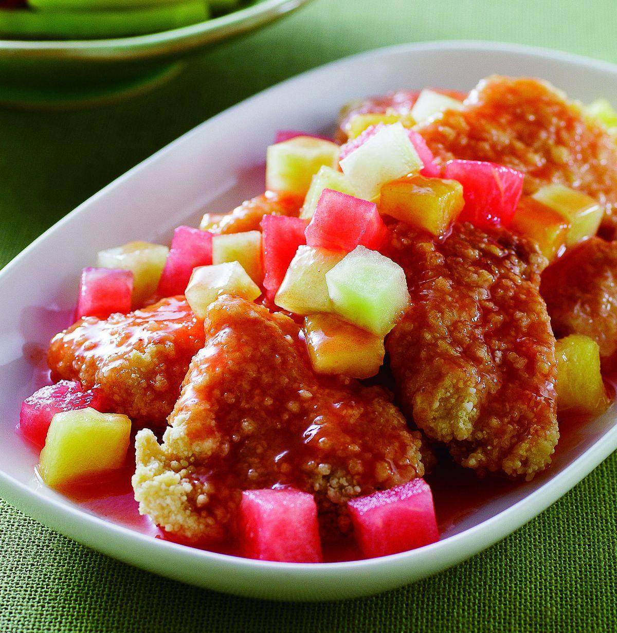 食譜:糖醋西瓜魚塊