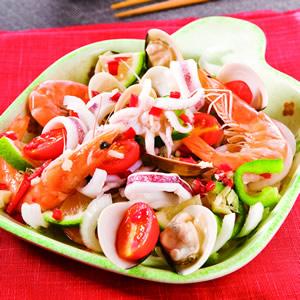 泰式涼拌海鮮(3)
